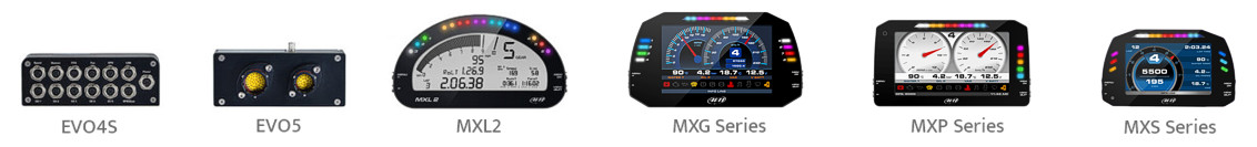 Compatible AiM Dash Units