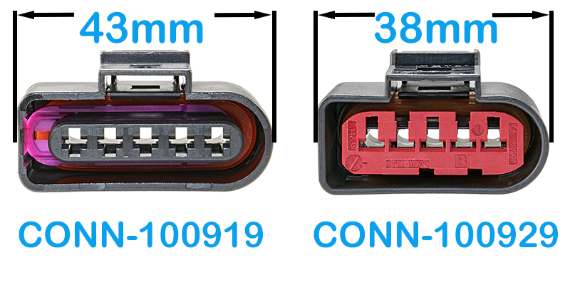 5 Way Bosch MAF Connector Extension for VW, Audi, & European Applications  (VW # 4D0 973 725)