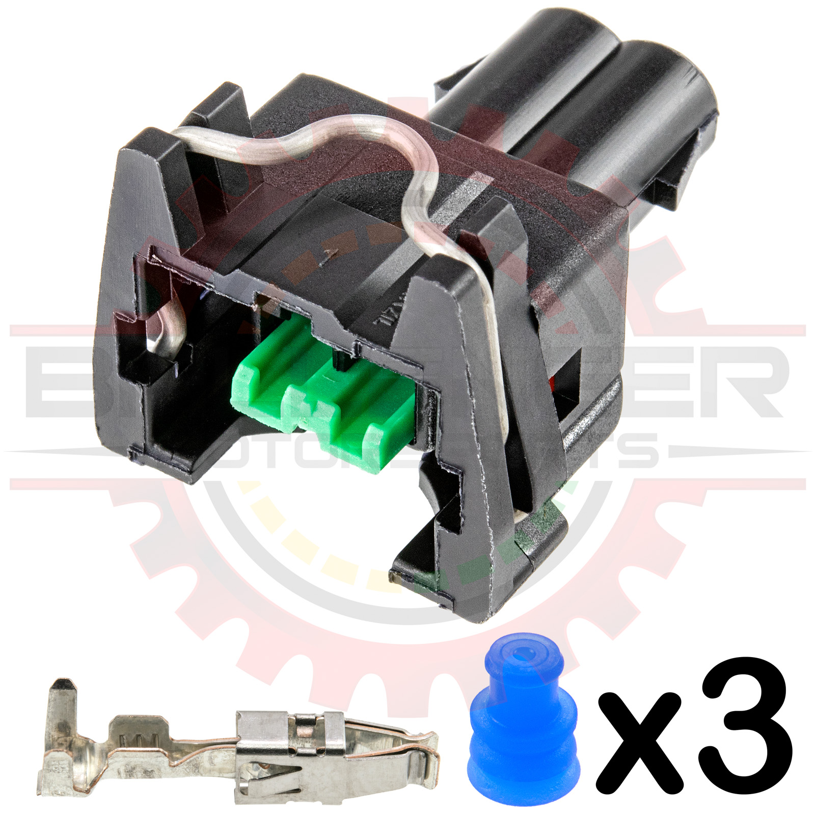 GM Delphi / Packard - Bosch EV1 Type Injector Connector Kit Push to seat