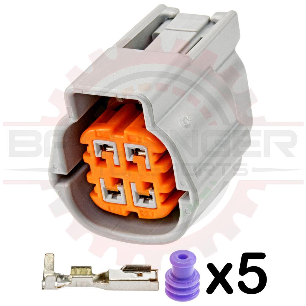 home » shop » connectors / harnesses » sumitomo » 4 way nissan & subaru oxygen  sensor connector plug kit (nissan # rs04fg)  ballenger motorsports