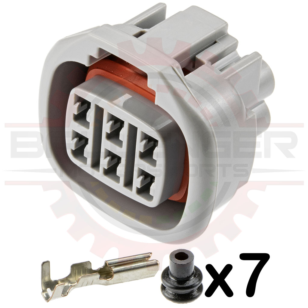 Home Shop Connectors Harnesses Sumitomo 6 Way Toyota 1992 4runner Egr Valve Connector Plug Kit For Iac Iscv And Valves