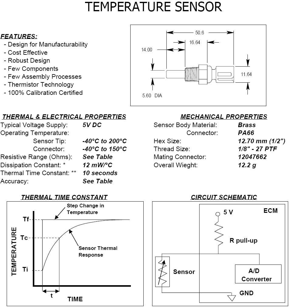 Home » Shop » Sensors » Temp Sensors » GM Delphi / Packard Fluid ...
