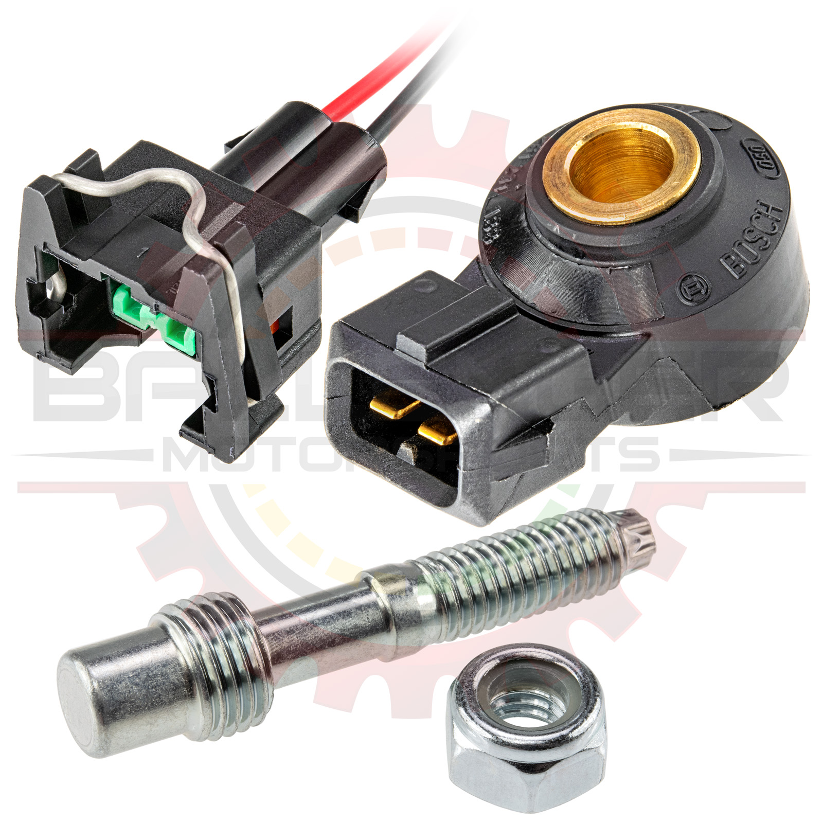 Bosch Motorsports KS4-P Knock / Detonation Sensor with Pigtail Kit and  Mounting Hardware
