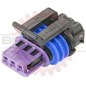 GM Delphi / Packard - 3 way GT 150 3 5mm Centerline Connector Plug for some  Delphi TPS & Ignition Coils (mushroom keyway)