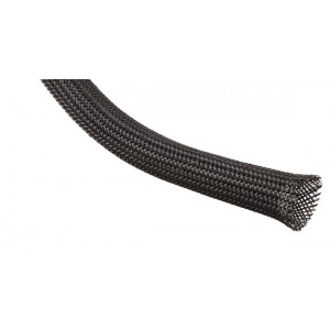1/4in. Diameter Clean Cut Expandable ided Sleeving, Black on