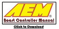 AEM Gauge Type Wideband Boost Controller Manual