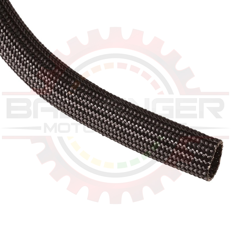 Extreme temperature fiberglass braided sleeving