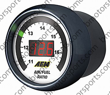 AEM UEGO Gauge Display Black Bezel / White Face - PN 30-4123
